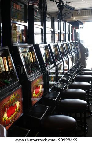 Token Slot Machines - stock photo