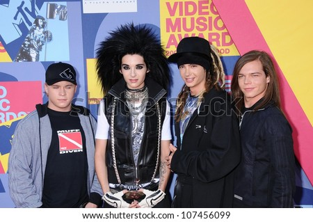 Tokio Hotel  at the 2008 MTV Video Music Awards. Paramount Pictures Studios, Los Angeles, CA. 09-07-08