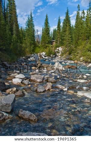 Tokkum creek in Kootenay National Park near Marble Canyon - stock photo