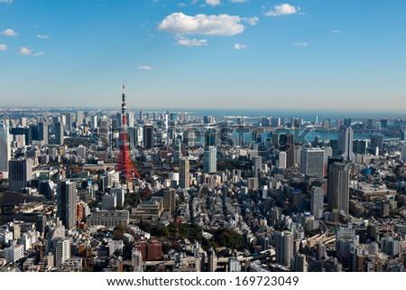 Tokyo city skyline - stock photo