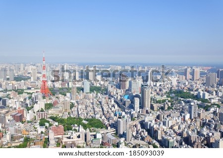 Tokyo cityscape. - stock photo