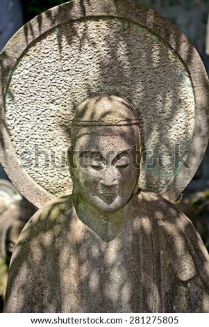 TOKYO, JAPAN - MAY 21: Bodhisattva in Daien Buddhist Temple at May 21, 2015 in Tokyo, Japan. Buddhism is widespread in all Japan.