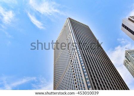TOKYO, JAPAN - May 23, 2016 : Shinjyuku office town area. Several of the tallest buildings in Tokyo are located in this area, including the Tokyo Metropolitan Government Building.