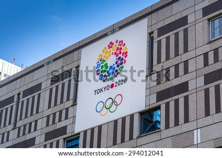 TOKYO,JAPAN - 11 May 2015 :The 2020 Summer Olympics are planned to be held from 24 July - 9 August 2020 in Tokyo, Japan.