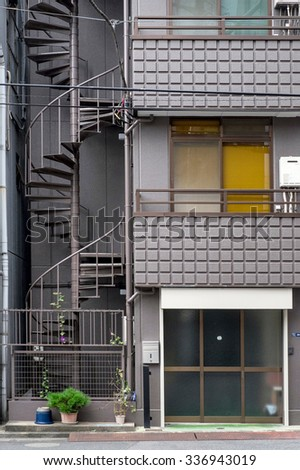 Tokyo, Japan - September 24: Streets of Tokyo, Japan on September 24 2015. Tokyo is the most populous metropolitan area in the world, the capital and the largest city of Japan. - stock photo