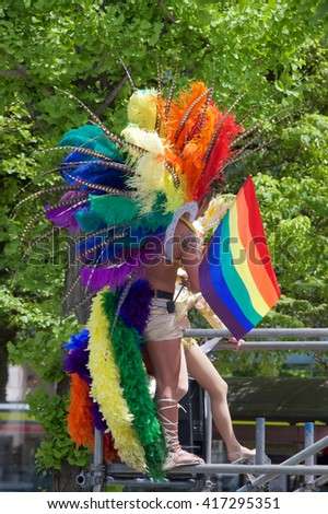 TOKYO, SHIBUYA-KU/JAPAN â?? MAY 8, 2016: People celebrate Gay Pride in Tokyo's Yoyogi Park and Shibuya District on May 8 2016