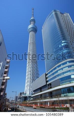 Tokyo sky tree, Japanese radio tower - stock photo