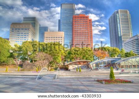 Tokyo Skyline HDR - stock photo