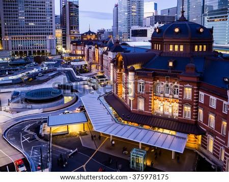 Tokyo Station at Tokyo, Japan - stock photo