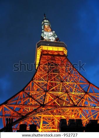 Tokyo Tower at Tokyo, Japan - stock photo