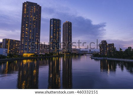 Tokyo Waterfront Night View(High-rise apartment group)