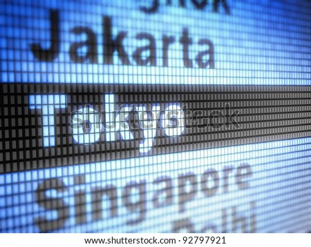Tokyo. World capitals  Full collection of icons like that is in my portfolio - stock photo