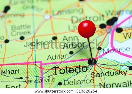 Toledo Pinned On Map Ohio USA Stock Photo (Edit Now) 513620254 ...