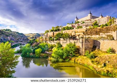 Toledo, Spain old town skyline. - stock photo