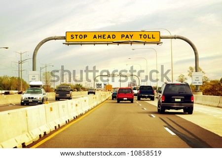 Toll Road - stock photo