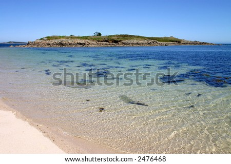 Toll's Island, Isles of Scilly. - stock photo
