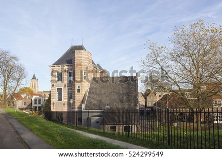 tollhouse in dutch town of gorinchem in the netherlands