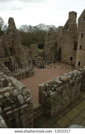 Tolquhon Castle Aberdeenshire Scotland - stock photo