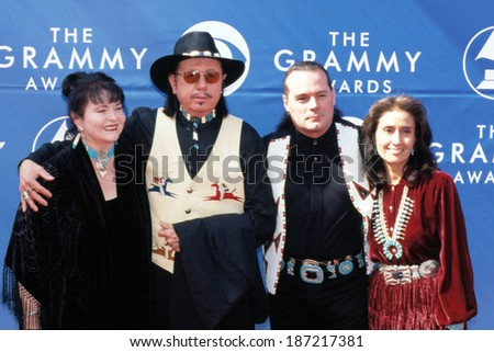 Tom Bee and Douglas Spotted Eagle at 2002 Grammy Awards, LA, CA 2/27/2002