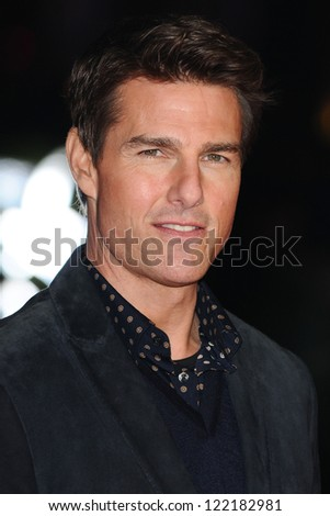"Tom Cruise arrives for the ""Jack Reacher"" premiere at the Odeon Leicester Square, London. 10/12/2012 Picture by: Steve Vas"