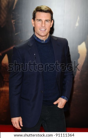 """Tom Cruise arriving for the premiere of """"Mission Impossible Ghost Protocol"""" at the IMAX cinema, South Bank, London. 13/12/2011 Picture by: Steve Vas / Featureflash - stock photo"""