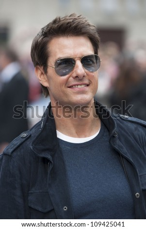 Tom Cruise arriving for the Rock Of Ages Premiere, Odeon Leicester Square, London. 10/06/2012 Picture by: Simon Burchell / Featureflash - stock photo