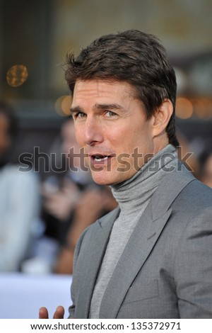 "Tom Cruise at the American premiere of his new movie ""Oblivion"" at the Dolby Theatre, Hollywood. April 10, 2013  Los Angeles, CA Picture: Paul Smith"