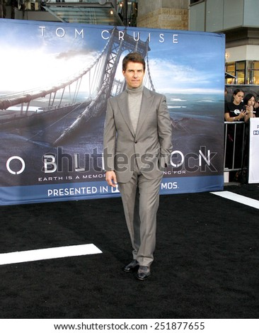 "Tom Cruise at the ""Oblivion"" Los Angeles Premiere at the Dolby Theater on April 10, 2013 in Hollywood, California.  - stock photo"