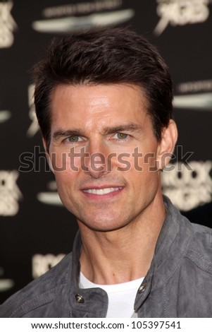 """Tom Cruise at the World Premiere of """"Rock of Ages,"""" Chinese Theater, Hollywood, CA 06-08-12 - stock photo"""