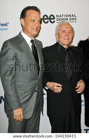 "Tom Hanks and Kirk Douglas at the EIF's Women's Cancer Research Fund's ""An Unforgettable Evening"" Benefit, Beverly Wilshire Four Seasons Hotel, Beverly Hills, CA. 01-27-10"