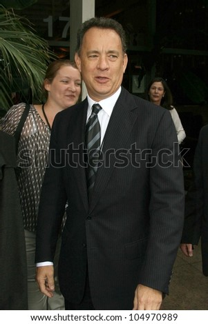 Tom Hanks  at the ceremony posthumously honoring George Harrison with a star on the Hollywood Walk of Fame. Vine Boulevard, Hollywood, CA. 04-14-09 - stock photo