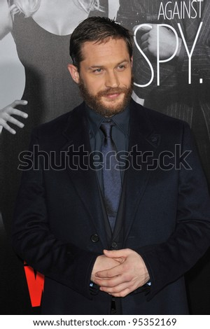"""Tom Hardy at the Los Angeles premiere of his new movie """"This Means War"""" at Grauman's Chinese Theatre, Hollywood. February 8, 2012  Los Angeles, CA Picture: Paul Smith / Featureflash - stock photo"""