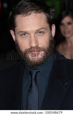 """Tom Hardy at the """"This Means War"""" Los Angeles Premiere, Chinese Theater, Hollywood, CA 02-09-12 - stock photo"""