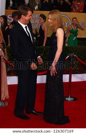 Tom Hooper, Nicole Kidman at the 19th Annual Screen Actors Guild Awards Arrivals, Shrine Auditorium, Los Angeles, CA 01-27-13