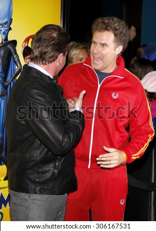 Tom McGrath and Will Ferrell at the Los Angeles premiere of 'Megamind' held at the Hollywood and Highland in Hollywood, USA on October 30, 2010. - stock photo