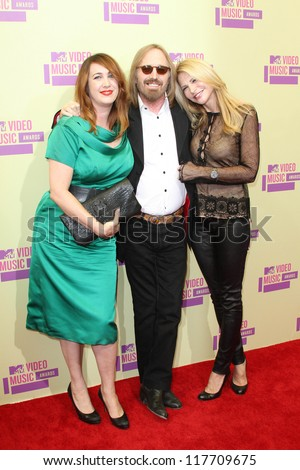 Tom Petty at the 2012 Video Music Awards Arrivals, Staples Center, Los Angeles, CA 09-06-12 - stock photo