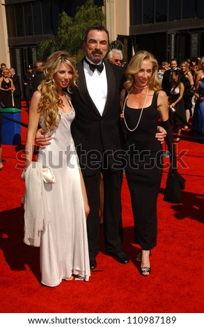 Tom Selleck with Jillie Mack and daughter Hannah arriving at the 59th Annual Primetime Emmy Awards. The Shrine Auditorium, Los Angeles, CA. 09-16-07