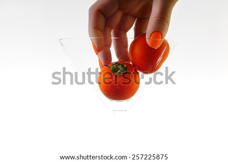 tomat with bubbles - stock photo