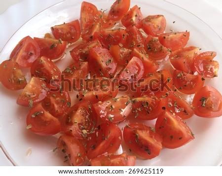 Tomates Cherry, Salad Cherrys tomatoes - stock photo