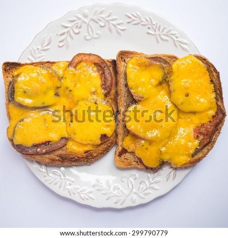 Tomato and cheese melt - stock photo