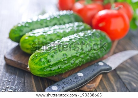 tomato and cucumbers - stock photo