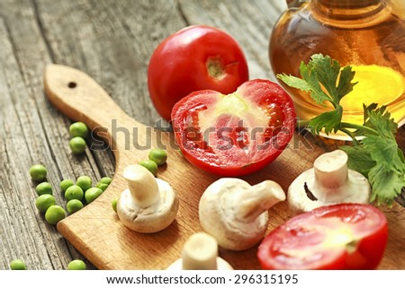 tomato and fresh vegetables - stock photo