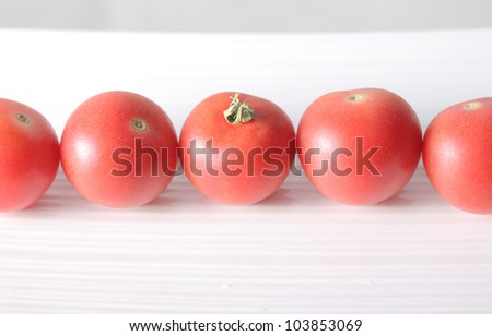 Tomato background - stock photo