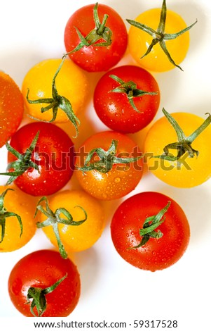tomato cherry background - stock photo