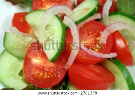 Tomato, Cucumber and Onion