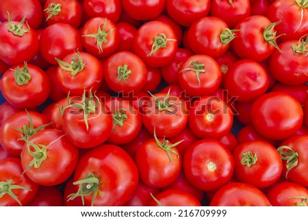 Tomato in turkish market