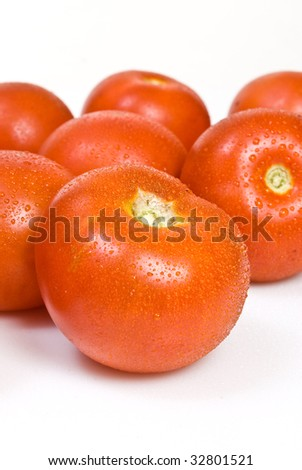 tomato, isolated on white background