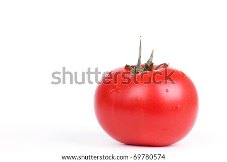 Tomato isolated on white, closeup