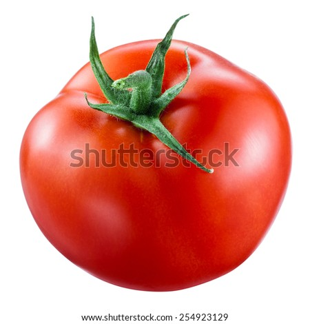 Tomato isolated on white. With clipping path - stock photo