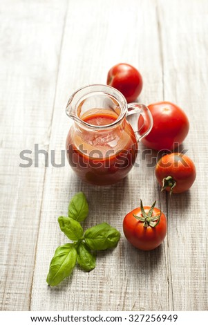 tomato juice - stock photo